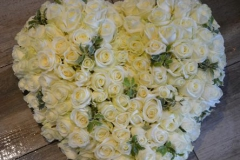 Coeur Roses Blanches