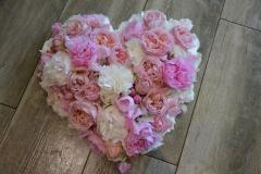 Coeur rose pastel