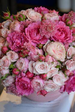 Marie fait ses gammes : les bouquets de roses