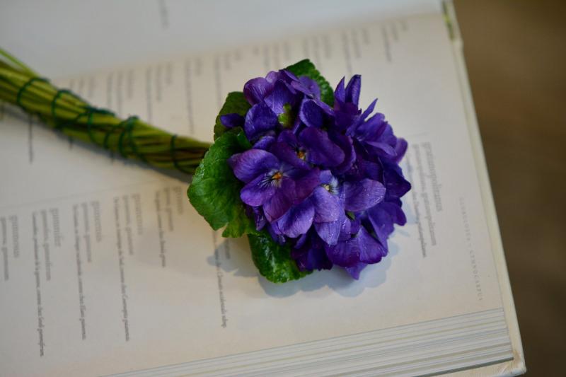 Un bouquet de violettes pour la Saint-Valentin