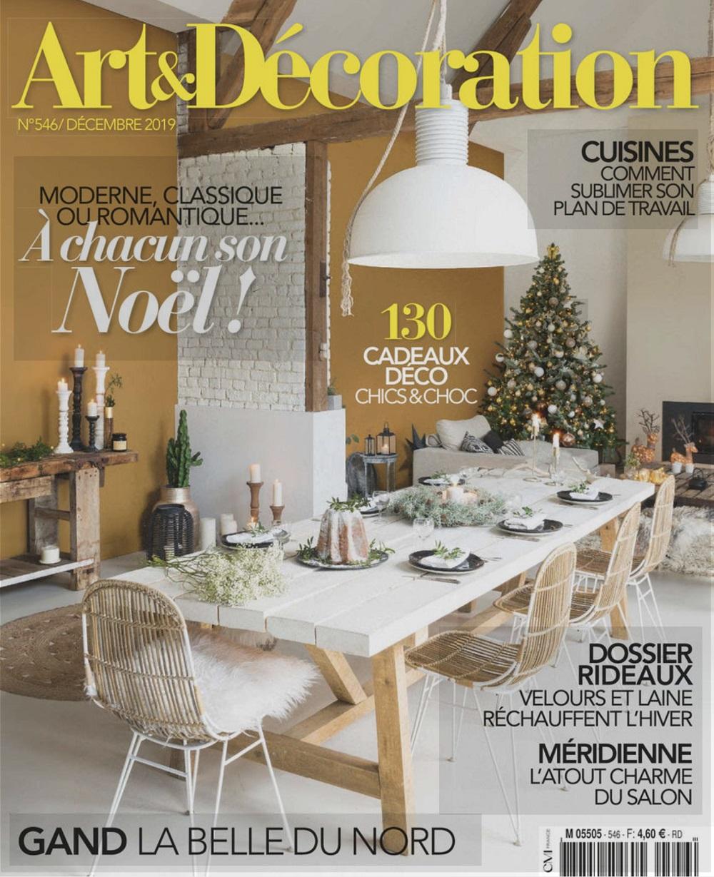 Arts et décoration décembre 2019